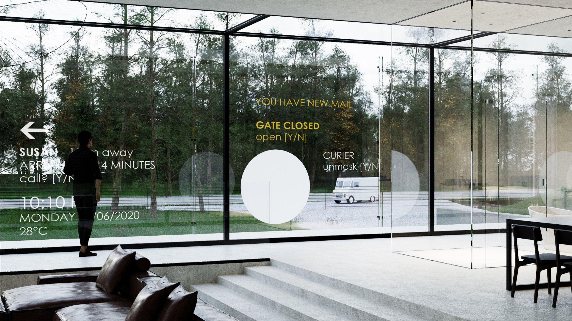 To projekt przekraczający granice: zarówno te mentalne – proponuje niespotykane wciąż wykorzystanie rzeczywistości rozszerzonej – jak i fizyczne, gdzie ściany domu znikają na życzenie, odsłaniając panoramiczny widok.Fot. Dom Szeroko Zamknięty - House Wide Shut pracownia Grupa Plus Architekci