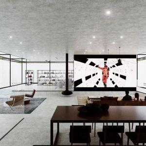 Trójwarstwowa powłoka wpływa więc zarówno na wygląd domu, jak i na interakcje pomiędzy wnętrzem a otoczeniem. Fot. Dom Szeroko Zamknięty - House Wide Shut pracownia Grupa Plus Architekci