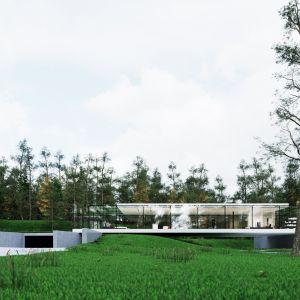 Przeszklone ściany mogą zmieniać stopień przezierności od całkiem transparentnych szyb po nieprzezroczyste ściany, dając niemal niegraniczone spektrum dodatkowych i nieznanych dotąd możliwości. Dzieje się to za sprawą struktury domu, na którą składają się trzy warstwy szkła.  Fot. Dom Szeroko Zamknięty - House Wide Shut pracownia Grupa Plus Architekci