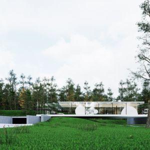 Zewnętrzna osłona potraktowana została tradycyjnie – jej zadaniem jest chronić przed wyziębieniem od wiatru. Natomiast zastosowanie szkła AR pozwala na przysłonięcie widoku, co nie oznacza jednak odcięcia się od świata zewnętrznego. Fot. Dom Szeroko Zamknięty - House Wide Shut pracownia Grupa Plus Architekci