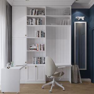 Pokój ucznia. Biała zabudowa jest stylowa i praktyczna jednocześnie. Projekt i zdjęcia: MIKOŁAJSKAstudio