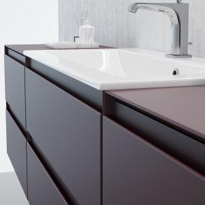 Komponenty wykorzystywane do tworzenia mebli łazienkowych powinny być odpowiednio zabezpieczone przed oddziaływaniem wilgoci. Na zdj. GUADIX marki Defra