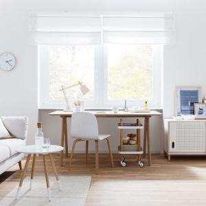 Stonowane barwy, prostota form i zaczerpnięte z natury materiały i motywy to przepis na piękny jasny salon. Fot. WestwingNow