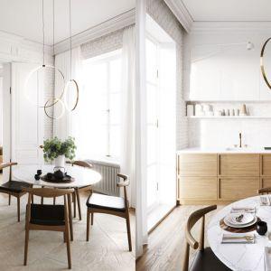 80-metrowe mieszkanie w kamienicy to stylowa otwarta przestrzeń zaprojektowana dla małżeństwa. Projekt i wizualizacje Katarzyna Kacik, Aleksandra Poprawa, pracownia projektowa houm