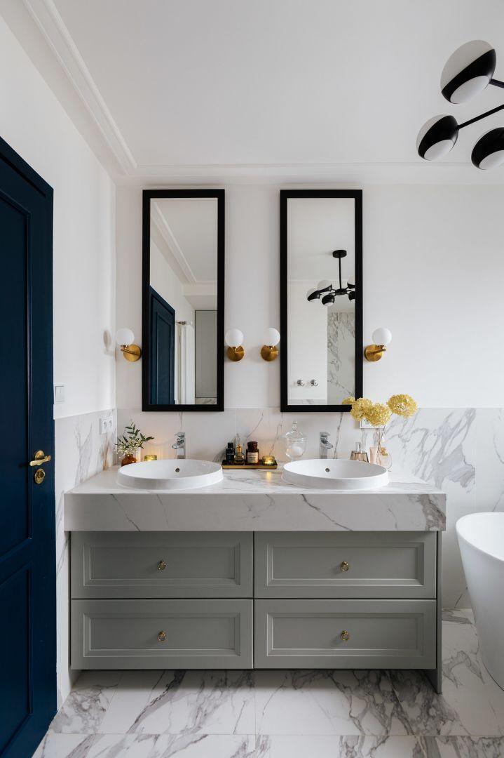 Ula Michalak w swojej łazience postawiła na kolekcję płytek Specchio Carrara z linii Grand Beauty Macieja Zienia, która świetnie pasuje do stylu glamour. Na zdj. łazienka Uli Michalak
