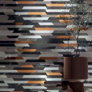 Brainstorm grey mozaika (32,8 x 89,8 cm, cena 99,88 zł za sztukę). Fot. Tubądzin