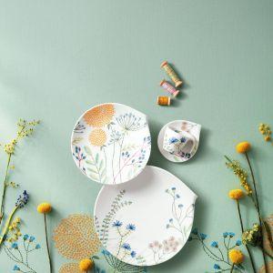 Porcelana Flow Couture obfitujące w detale. Delikatne jak piórko motywy kwiatowe wyglądają niemal jak wyhaftowane. Od 65 zł/kubek, Villeroy&Boch