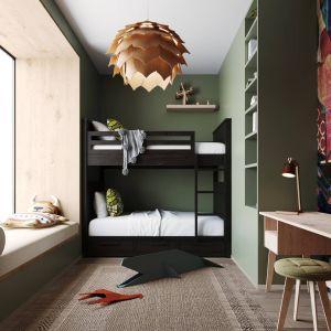 Świetnie zaprojektowany pokój dzieci. Zespół projektowy: Anna Adamowicz, Damian Machnik, Zakład Usług Projektowo-Architektonicznych ZUP-A. Wizualizacje: Monsumm