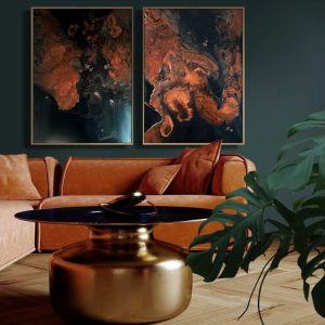 Płótna z mnóstwem ekspresyjnych połączeń kolorystycznych stanowią idealną propozycję dla osób szukających sposobów na odświeżenie swojego mieszkania. Fot. kasialiszka.art