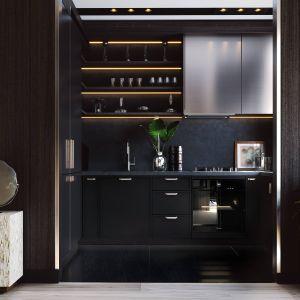 Życzeniem klienta było zaprojektowanie eleganckiej i małej kuchni, która będzie spełniać swoje podstawowe funkcje. Projekt i zdjęcia ZUP-a