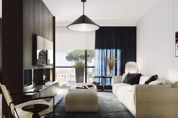 Wakacyjny apartament w Rzymie urzeka elegancją i ponadczasowym designem. To zasługa projektantów z pracowni ZUP-a, którym powierzono projekt i realizację wnętrz.