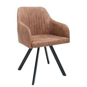 Krzesło Lucca vintage w brązowym kolorze - 419 zł. Do kupienia w sklepie DekoracjaDomu.pl