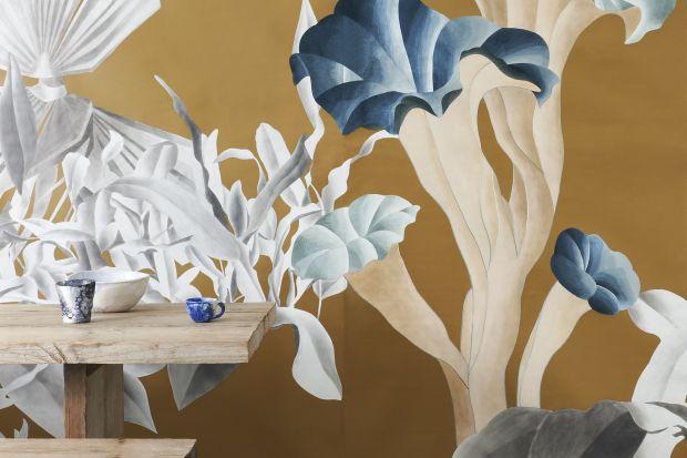Nowa kolekcja jedwabnych ręcznie malowanych i haftowanych tapet to prawdziwa gratka dla miłośników pięknego designu.