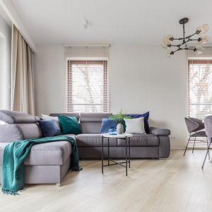 Szczególne miejsce w takim pomieszczeniu powinna zająć duża, wygodna sofa pokryta poduchami, kocami czy pledem o wyrazistym wzorze. Projekt Deer Design