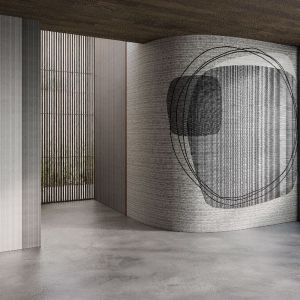 Quiet Place to subtelna, organiczna akwarelka bez wątpienia inspirowana stylistyką Mid Modern Century. W jej towarzystwie znakomicie wyglądać będą meble, ceramika i szkło w stylu vintage.