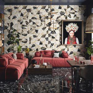 Płytki Luxor marki Aparici tworzą niezwykłe efekty wizualne na ścianach.