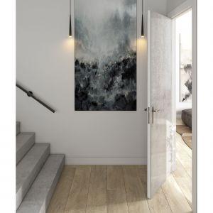 Drzwi Dekton Kreta wykonano w technologii spiekania cząsteczek kwarcu, szkła i porcelany. Powierzchnia ta jest wyjątkowo odporna na zadrapania, plamy, wysoką temperaturę oraz promienie ultrafioletowe. Fot. Cosentino