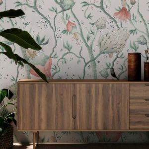 Tapeta Botanical z kolekcja Wallmotion dostępna w ofercie firmy Muraspec. Projekt: Ewa Goral. Fot. Muraspec