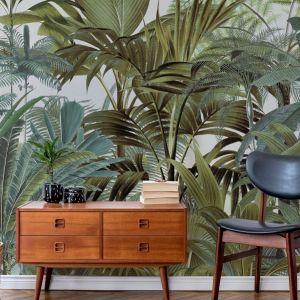 Tapeta z kolekcji Tropical Landscape 2 Mural by Andrea Haase dostępna w ofercie firmy Wallsauce. Fot. Wallsauce