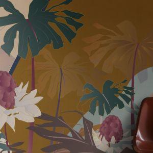 Tapeta z kolekcji Cabana dostępna w ofercie Mood-Design. Fot. Mood-Design
