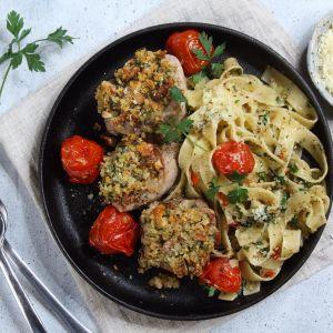Polędwica z makaronem aglio olio. Fot. Knorr