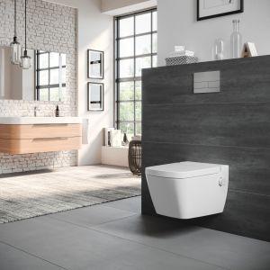Zwróćmy także uwagę na kwestie higieny. Wybierajmy rozwiązania, które będą wspierać użytkowników w dążeniu do zachowania czystości i w bezpiecznym korzystaniu z łazienki. Fot. TECEone