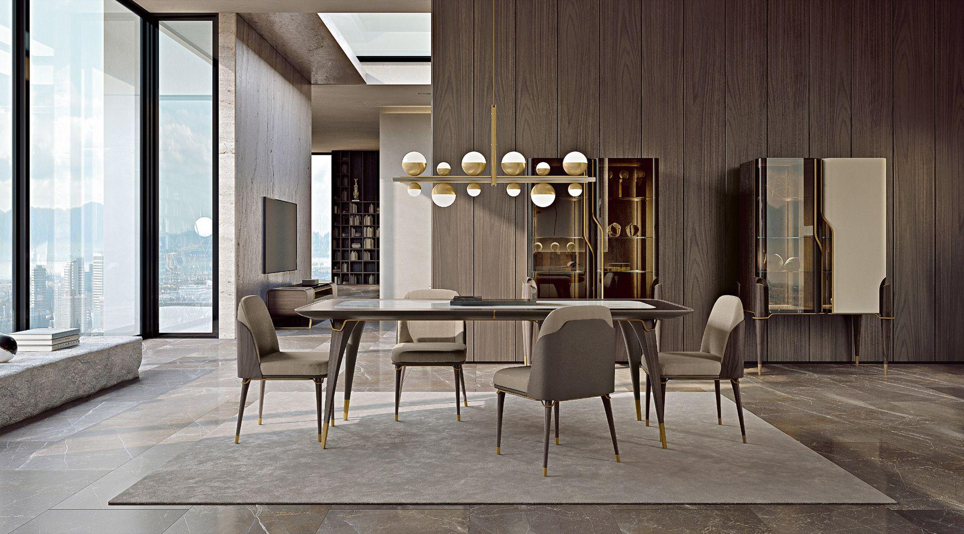 Projekt, wyraźnie charakterystyczny, jest teraz daleki od stylu klasycznego. Fot. Turri Meltinglight dining room