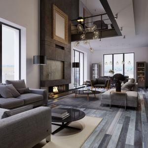 We wnętrzach industrialnych sprawdzą się okna w bardzo popularnej w ostatnim czasie okleinie w kolorze antracytu. Fot. Awilux