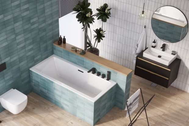 Okrągłe lustra to prawdziwy hit w łazienkach. Te, które pokazujemy, ma aluminiową ramę o szerokości zaledwie 7 mm. Dzięki temu na ścianieprezentuje się modnie i minimalistycznie.