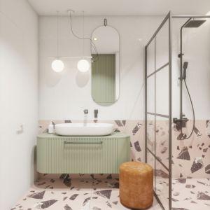 Trzecie miejsce w konkursie jury przyznało Alicji Ragankiewicz-Drabowicz z pracą Niebanalna łazienka w bloku dla niebanalnej właścicielki. Fot. mat. konkursowe Excellent