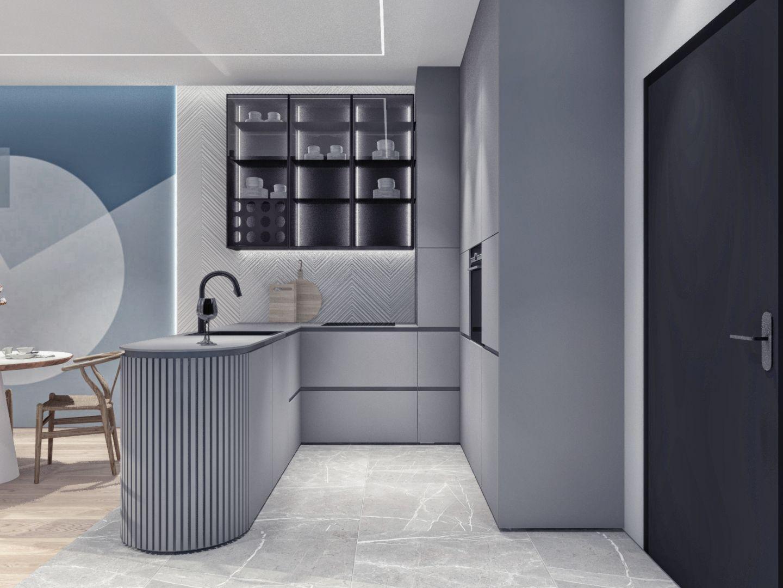 Projekt 44-metrowego mieszkania. Fot. Moovin Group