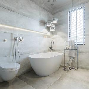 Łazienka ujmuje klasyczną elegancją i ponadczasowym stylem. Projekt NABOO STUDIO
