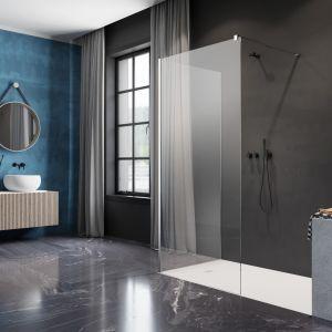 W ofercie Radaway pojawiła się niedawno możliwość wykonania na miarę kabiny Modo X II w wysokości do 3 metrów. Takie tafle pięknie prezentują się w wysokich mieszkaniach np. w kamienicach i harmonijnie oddzielają strefę prysznicową od reszty łazienki