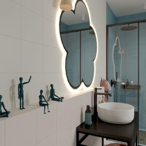 Fajne, zabawne dekoracje w dziecięcej łazience to świetny pomysł. Projekt i zdjęcia: ATOM Projekty Wnętrz