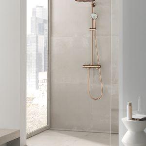 W trosce o bezpieczeństwo i komfort podczas użytkowania, we wszystkich termostatycznych systemach prysznicowych GROHE została wykorzystana technologia TurboStat pozwalająca na wygodne i szybkie ustawienie preferowanej temperatury wody Fot. GROHE Euphoria System 310