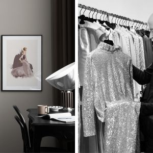 Kolekcja grafik autorstwa kultowego projektanta mody Haute Couture, Larsa Wallina. Fot. Desenio