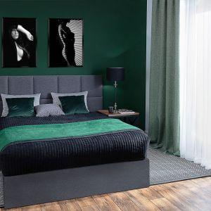 Kolor butelkowy to jeden z najlepszych kolorów do sypialni. Zielony pozwala odpocząć i odprężyć się po ciężkim dniu. Fot. Dekoria