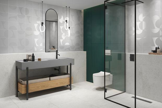 W nowoczesnych aranżacjach łazienek minimalistyczne wyposażenie schodzi na drugi plan, a główną rolę coraz śmielej zaczynają odgrywać efektowne okładziny podłóg i ścian.