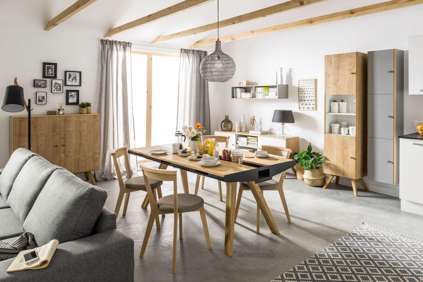 Drewno w salonie to najlepszy sposób na ponadczasowe i piękne wnętrze. Fot. VOX