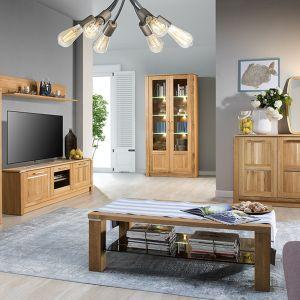 Nowoczesne myślenie o salonie to przede wszystkim umiar, naturalne materiały i prosta forma. Fot. Oslo, Szynaka Meble. Cena 249zł - 2749zł
