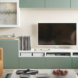 System przechowywania Besta od IKEA pozwala na dowolną konfigurację ścianki z telewizorem. Kombinacja na zdjęciu - ok 2 tys. zł. Producent: IKEA