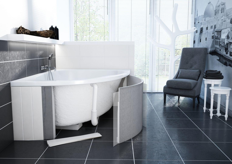 Wanny oferowane w zestawach Schedpol Schedline Collection posiadają specjalnie zaprojektowaną, funkcjonalną powierzchnię AntiBac® i Easy To Clean, która jest antyalergiczna i antybakteryjna, a poza tym niezwykle łatwa w utrzymaniu w czystości. Fot. Schedpol