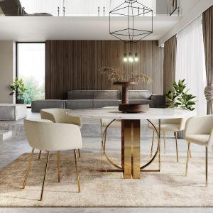 Włoski styl modernistyczny nawiązujący do prostych form i obecności marmuru wiódł prym we wzornictwie już w 2018 roku, gdy producent mebli, marka Absynth, zaczęła pracę nad kolekcją.  Fot. Ring Absynth