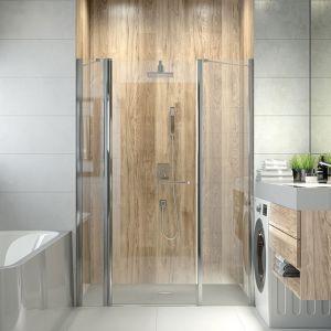 Drzwi prysznicowe serii Prestige typ DJ2/PRIII+SS2/PRIII. Dostępne w ofercie firmy Sanplast. Cena: od 1.883,13 zł. Fot. Sanplast