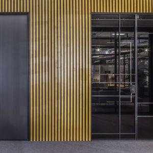 Drzwi świetnie wkomponowują się w aranżację każdego wnętrza dzięki niewidocznej ościeżnicy i parze niewielkich zawiasów typu pivot. Fot. Raumplus