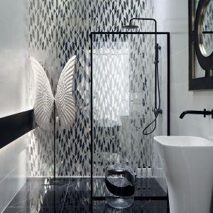 Czarno-biała i bardzo stylowa kolekcja Lucid marki Tubądzin. Świetna, ponadczasowa i minimalistyczna, a jednocześnie nowoczesna łazienka. Fot. Tubądzin