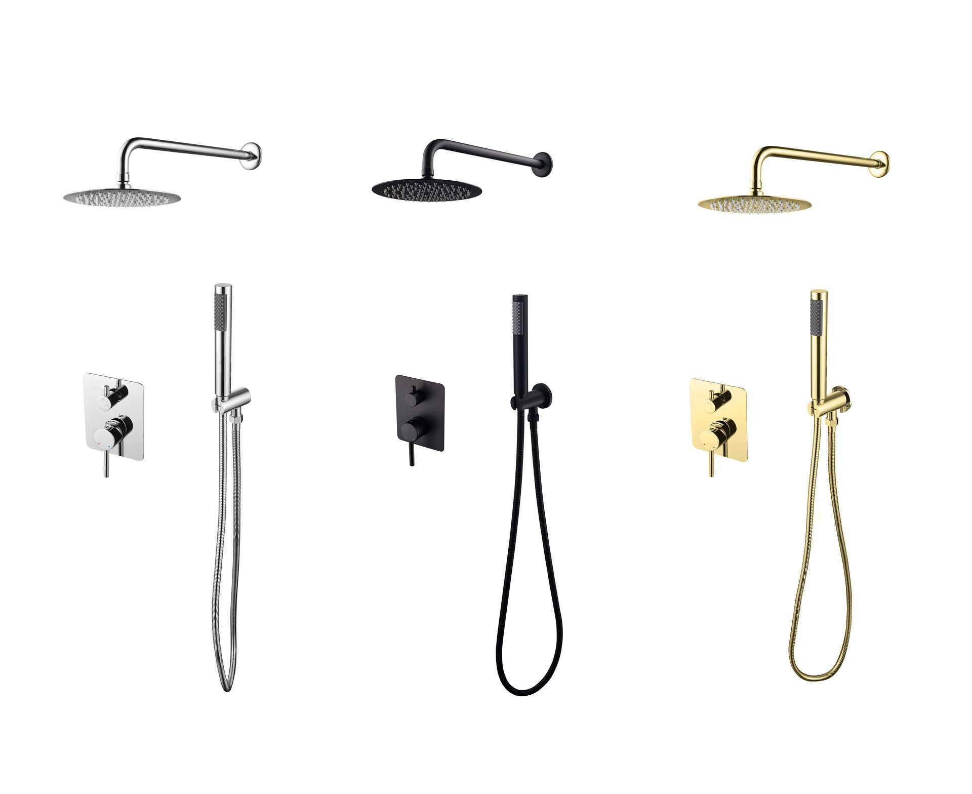 Podtynkowe zestawy prysznicowe Decco Illusion Besco (nowość 2020). Fot. Besco