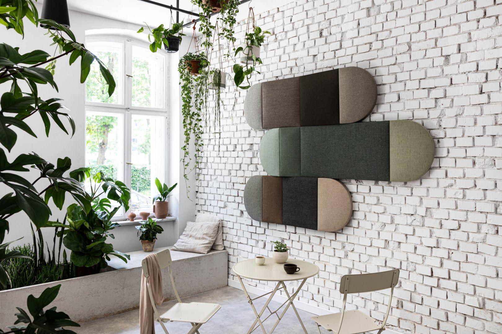 Meno to nowa propozycja Mai Ganszyniec dla marki Noti. Panele zmniejszają hałas i podźwięk, są tez świetnym elementem dekoracyjnym wnętrza. Fot. Noti