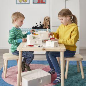 BYGGLEK doskonale pasuje do innych produktów, dzięki czemu kreatywność Twoich dzieci może stać się ładną i niepowtarzalną dekoracją w domu. Fot. Ikea
