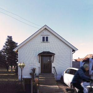 Domu w Sandefjord, którego rozbudowy podjęli się architekci z biuro Ggrupa. Autorzy projektu: Paweł Lipiński, Fryderyk Graniczny, Mateusz Frankowski